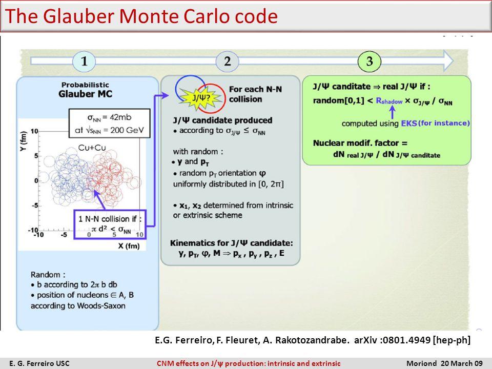 The Glauber Monte Carlo code E. G.