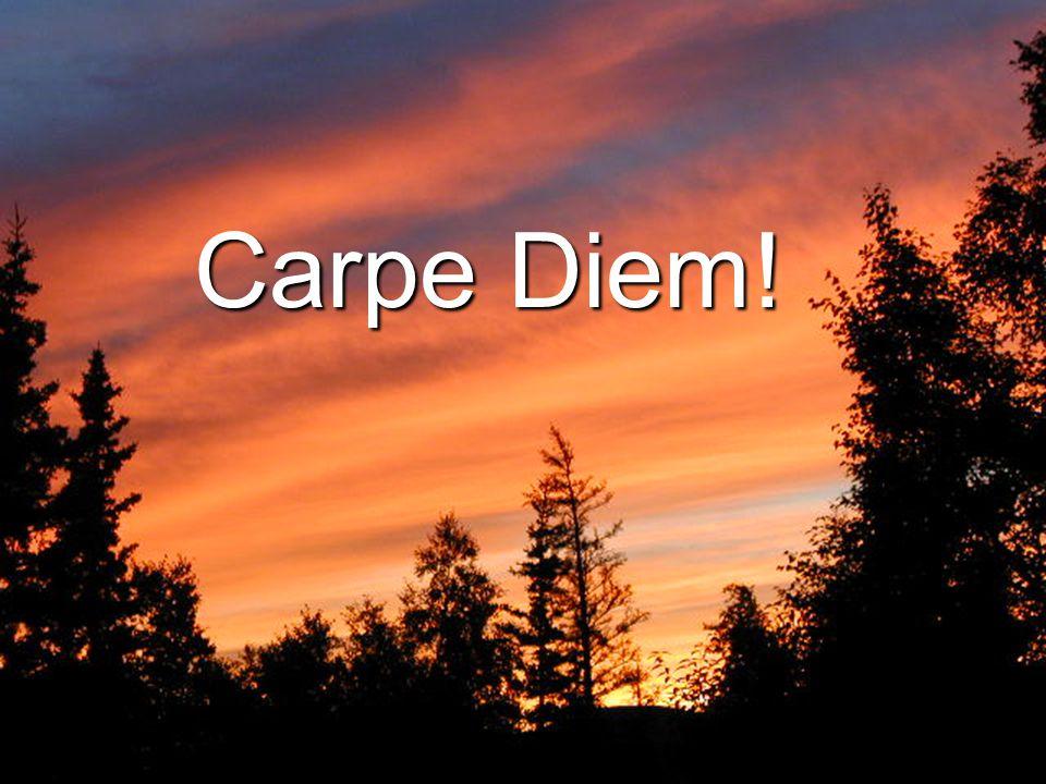 1/26/2010 23 Carpe Diem!