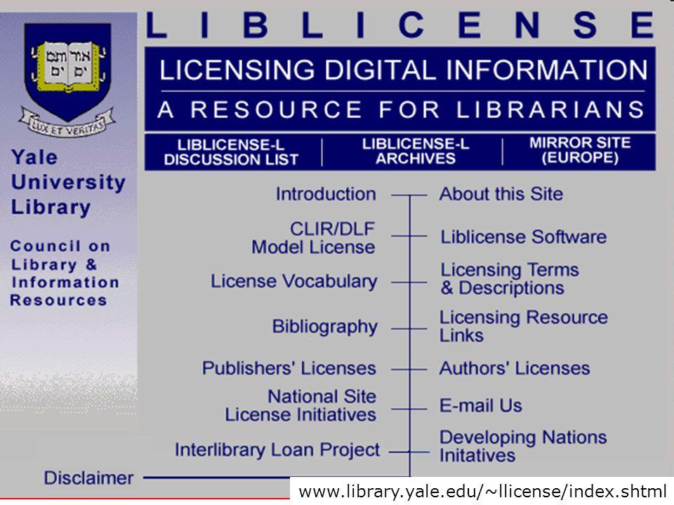 www.library.yale.edu/~llicense/index.shtml
