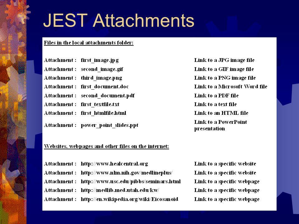 JEST Attachments