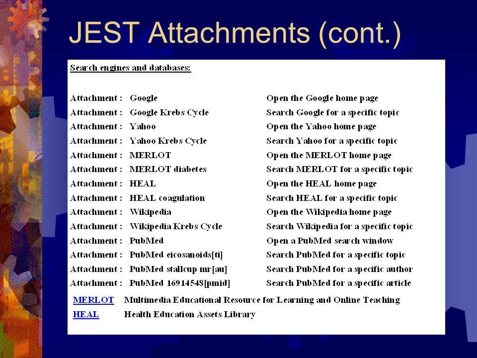 JEST Attachments (cont.)