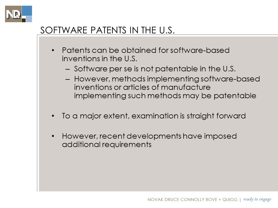Patents can be obtained for software-based inventions in the U.S.