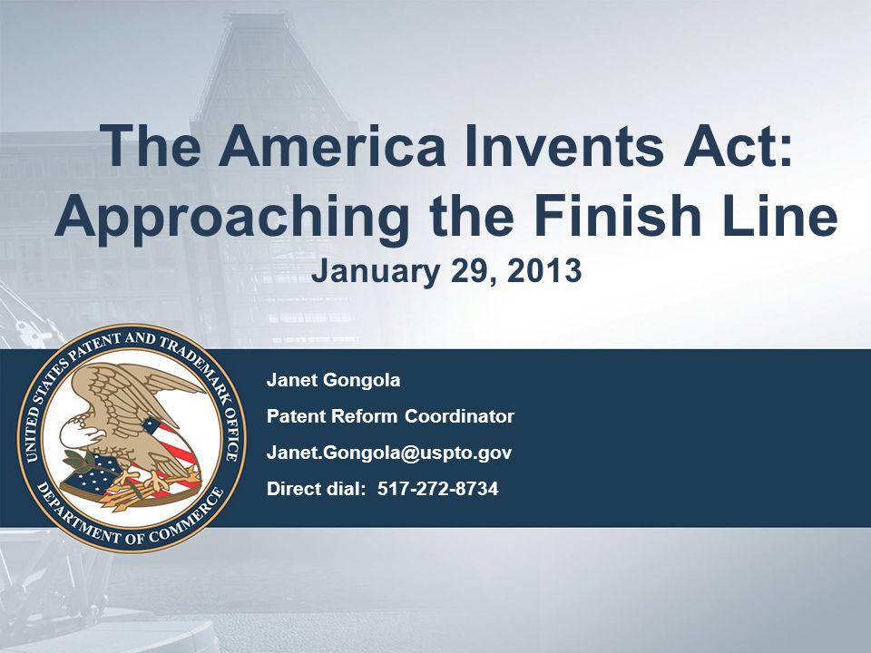 Overview First-inventor-to-file Fee setting Micro Entity Technical Corrections Legislation 2