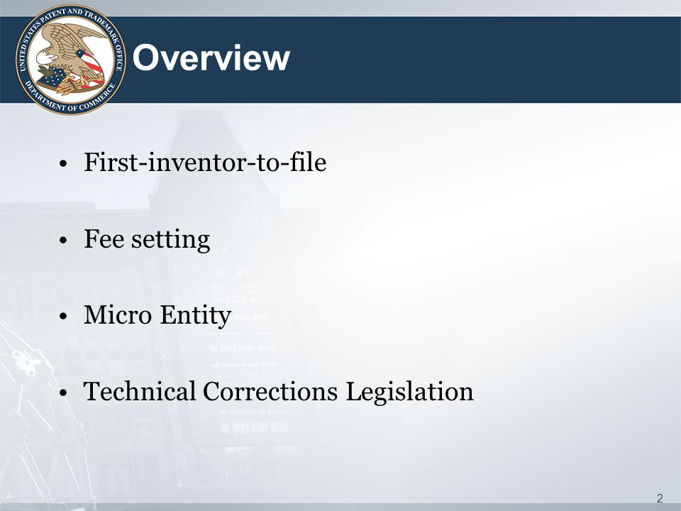 First-Inventor-to-File: Dates to Know Proposed rule and proposed examination guidelines published July 26, 2012 USPTO held a First Inventor to File Roundtable on September 6, 2012 All public comments have been considered and final rule and final examination guidelines being prepared Effective March 16, 2013 3