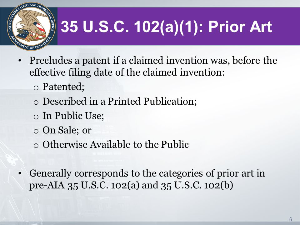 Appendix Changes to Implement the First Inventor to File Provisions of the Leahy-Smith America Invents Act, 77 Fed.