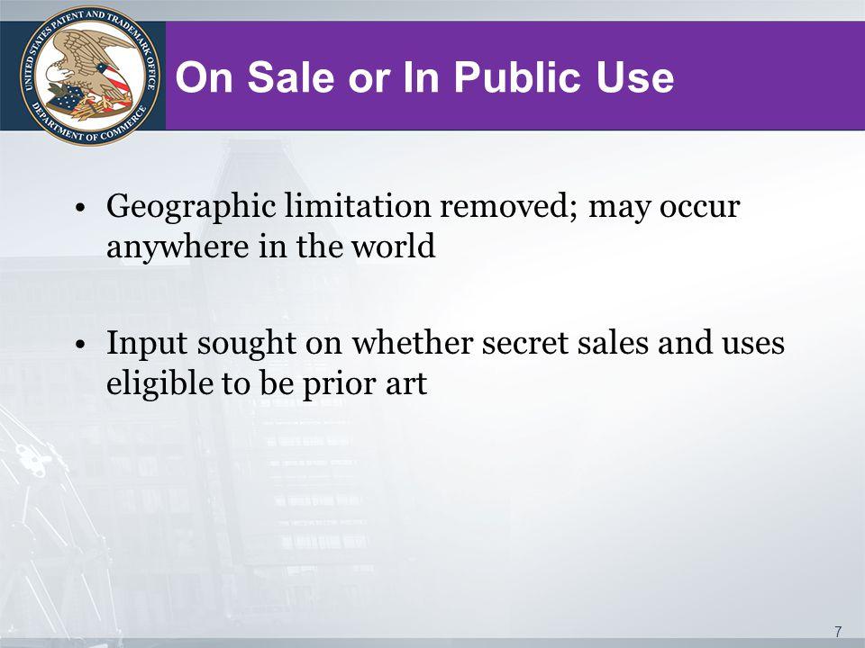 35 U.S.C.102(b)(2)(A): Non-inventor Disclosure Exception Exceptions under 35 U.S.C.