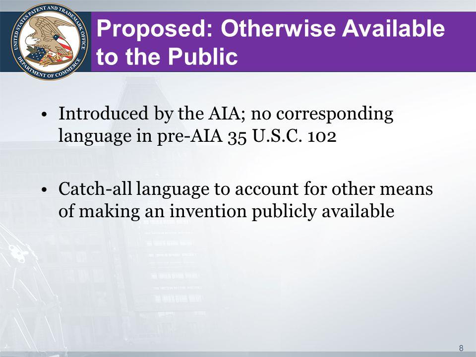35 U.S.C.102(b)(2)(B): Intervening Disclosures Exception Exceptions under 35 U.S.C.