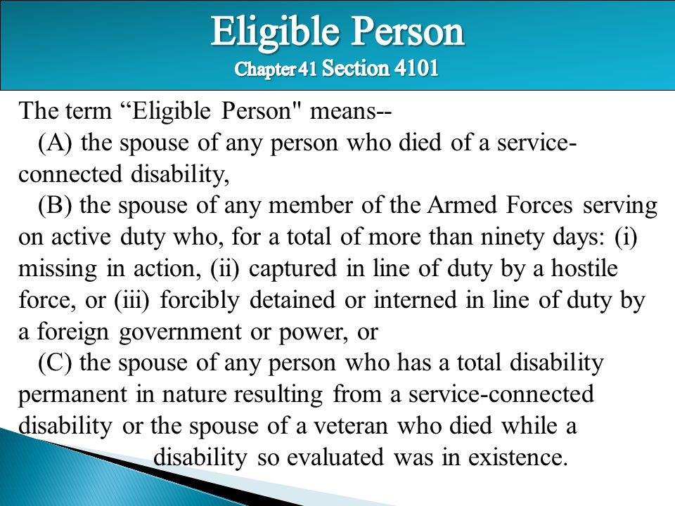 "The term ""Eligible Person"