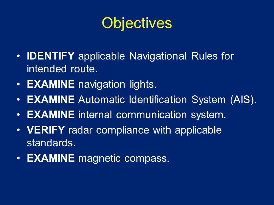 Objectives EXAMINE swing meter.EXAMINE radio equipment.