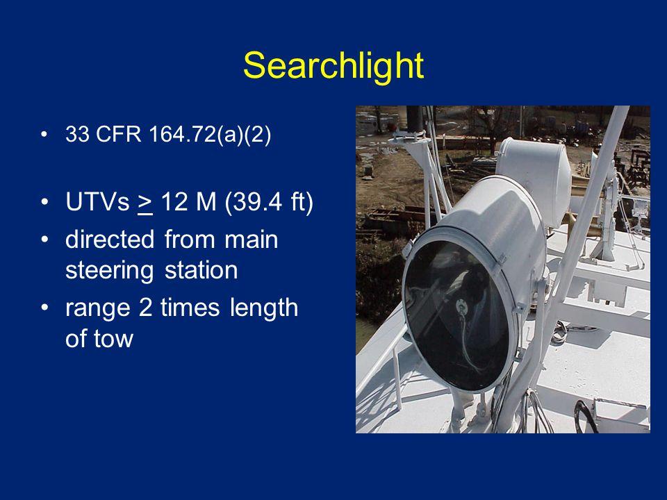 Navigation Lights 33 CFR 84.0933 CFR 84.09 Navigation Side Lights UTVs > 20 M (65.6 ft) Fitted w/black screens