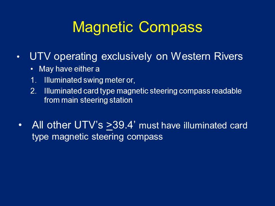 Swing Meter vs Magnetic Compass