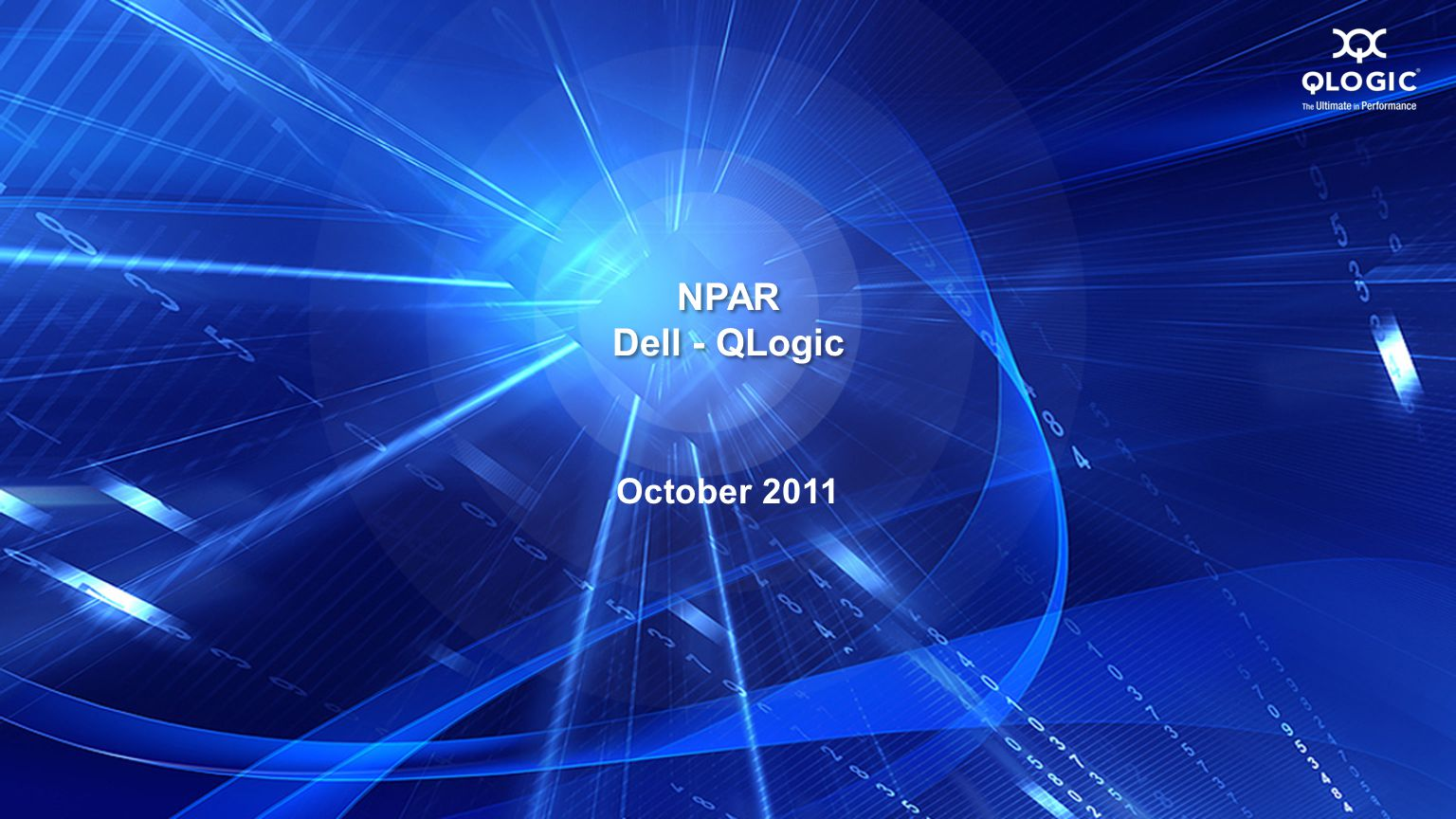 NPAR Dell - QLogic October 2011