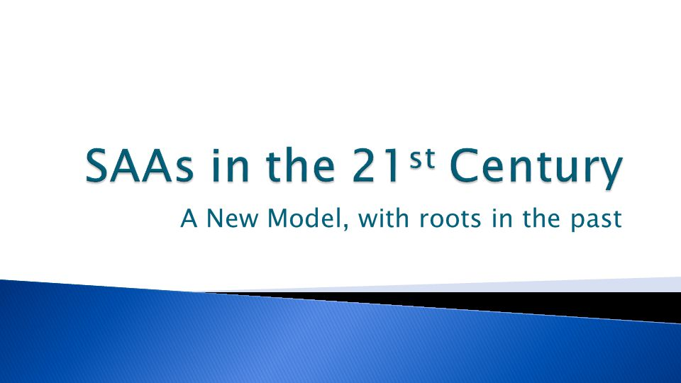 A New Model, with roots in the past