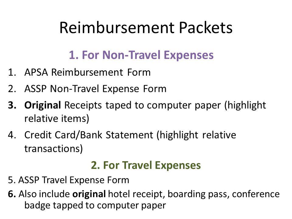 1. APSA Reimbursement Form