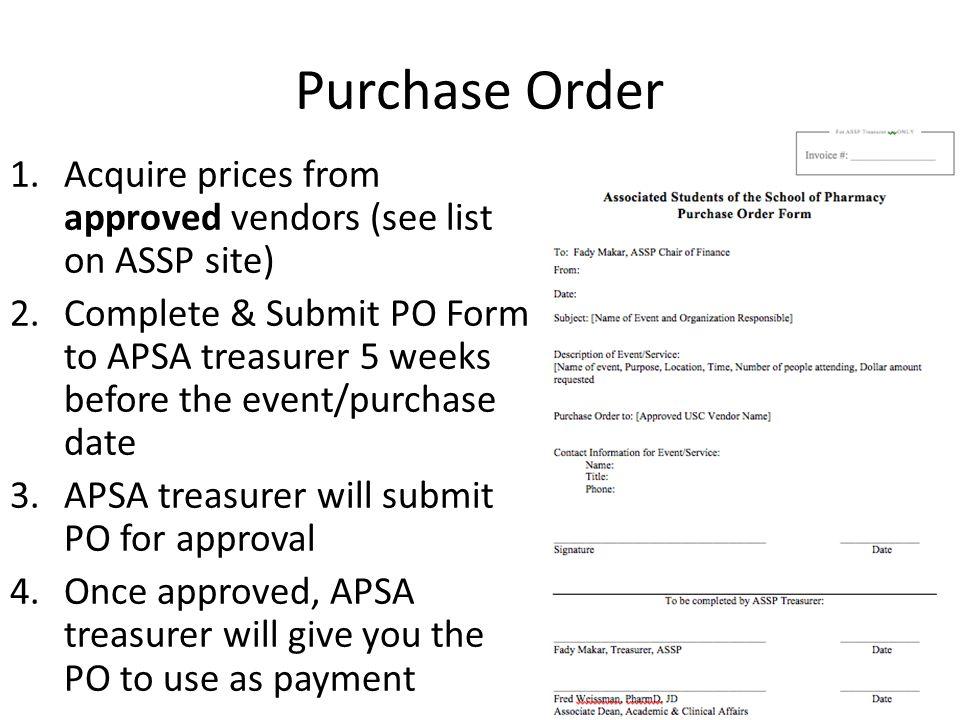 Purchasing MethodForm Submission Deadline 1.