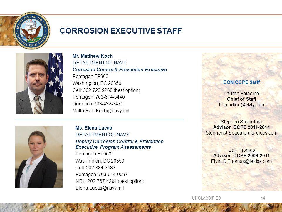 CORROSION EXECUTIVE STAFF Mr.