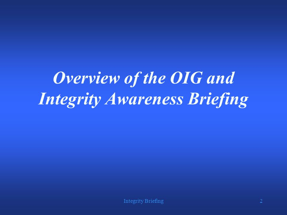 Integrity Briefing53 An Inmate's Advice  Inmates can be  Manipulative  Coercive  Deceptive  Self Serving