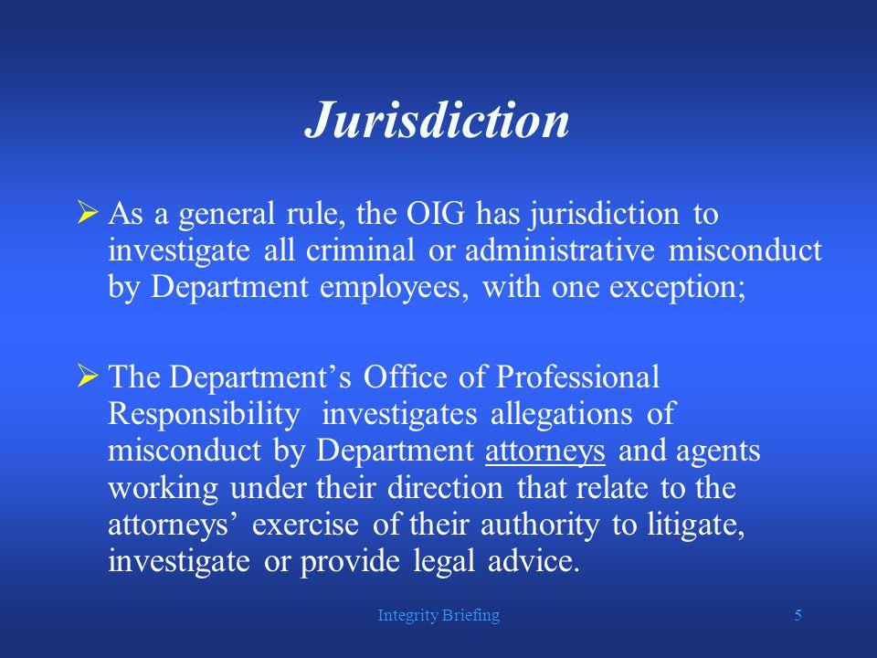Integrity Briefing6 Organization
