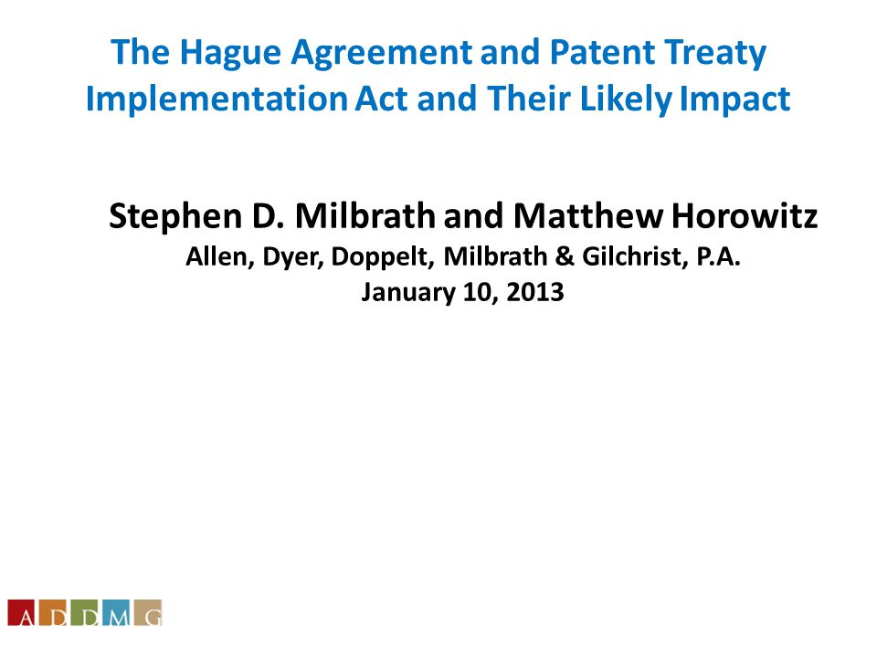 Stephen D. Milbrath and Matthew Horowitz Allen, Dyer, Doppelt, Milbrath & Gilchrist, P.A.