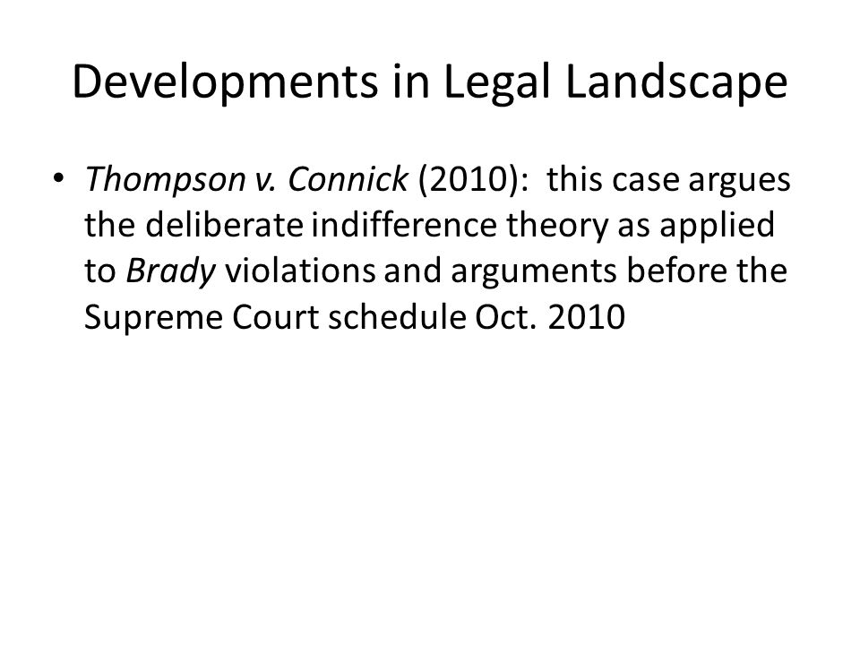Developments in Legal Landscape Thompson v.