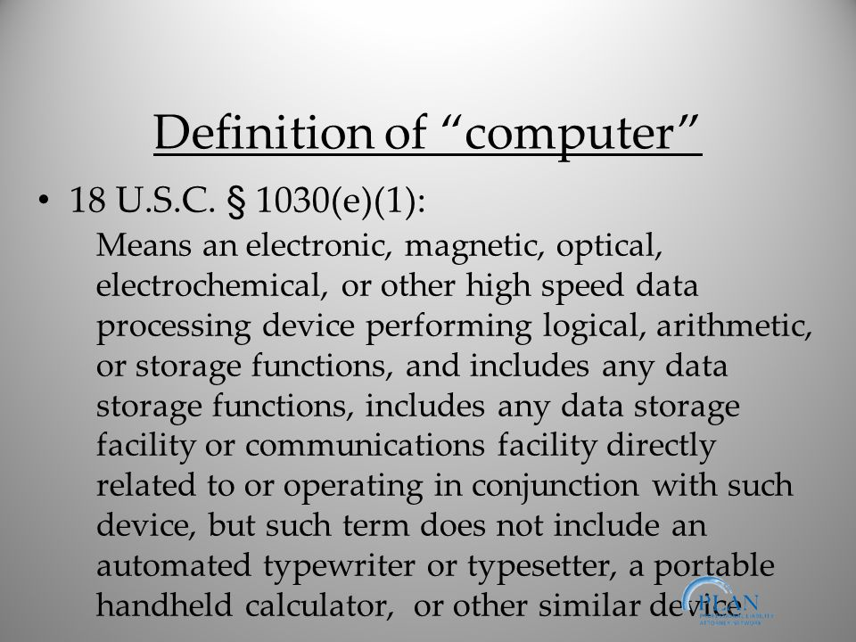 Definition of computer 18 U.S.C.