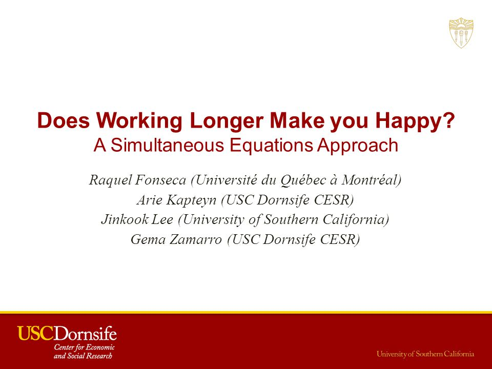 Does Working Longer Make you Happy.