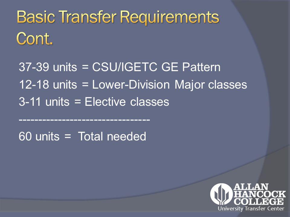 University Transfer Center