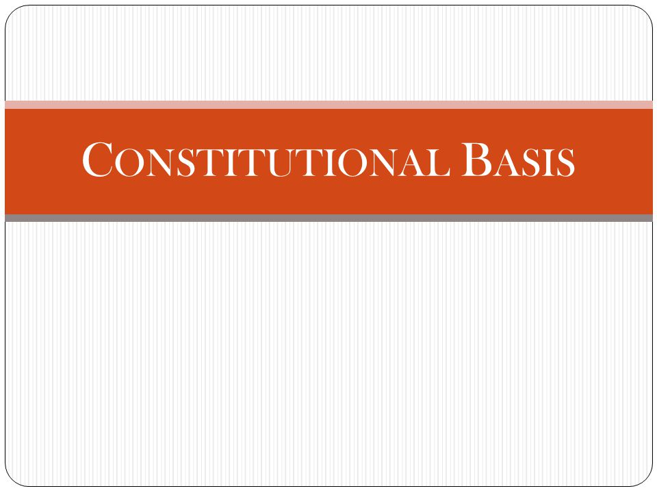 Constitutional Basis Basis for Congressional activity in this area is constitutional: To promote the progress of science and useful arts, by securing for limited times to authors and inventors the exclusive right to their respective writings and discoveries U.S.