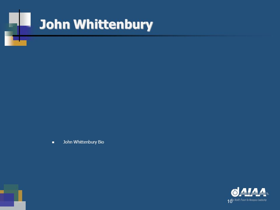 John Whittenbury John Whittenbury Bio 10