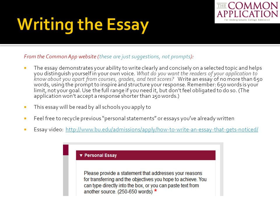 transfer admission essays Suggestions for writing admission essays here are a few hints about how to write a strong admissions essay, and i would suggest you also view our hints for applying to collegei do not claim to be an expert on admissions essays, but after reading more than 40,000 essays over the past 17 years, i do have a few suggestions on how to present your work in the best light.