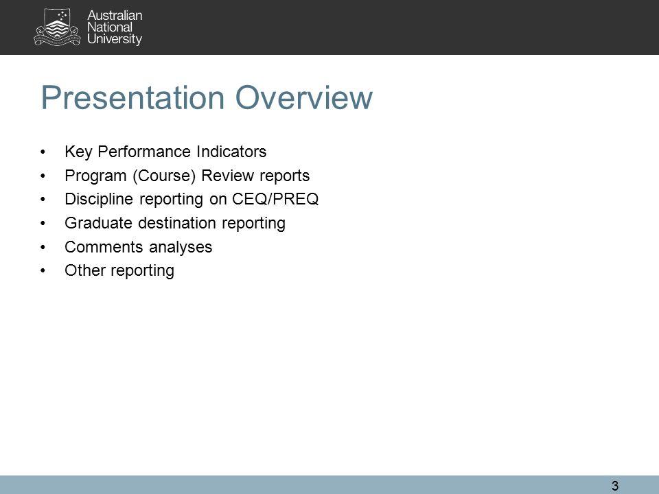 Key Performance Indicators ANU Strategic Plan College Operational Plans and KPIs 4