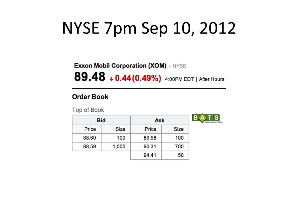 NYSE 7pm Sep 10, 2012