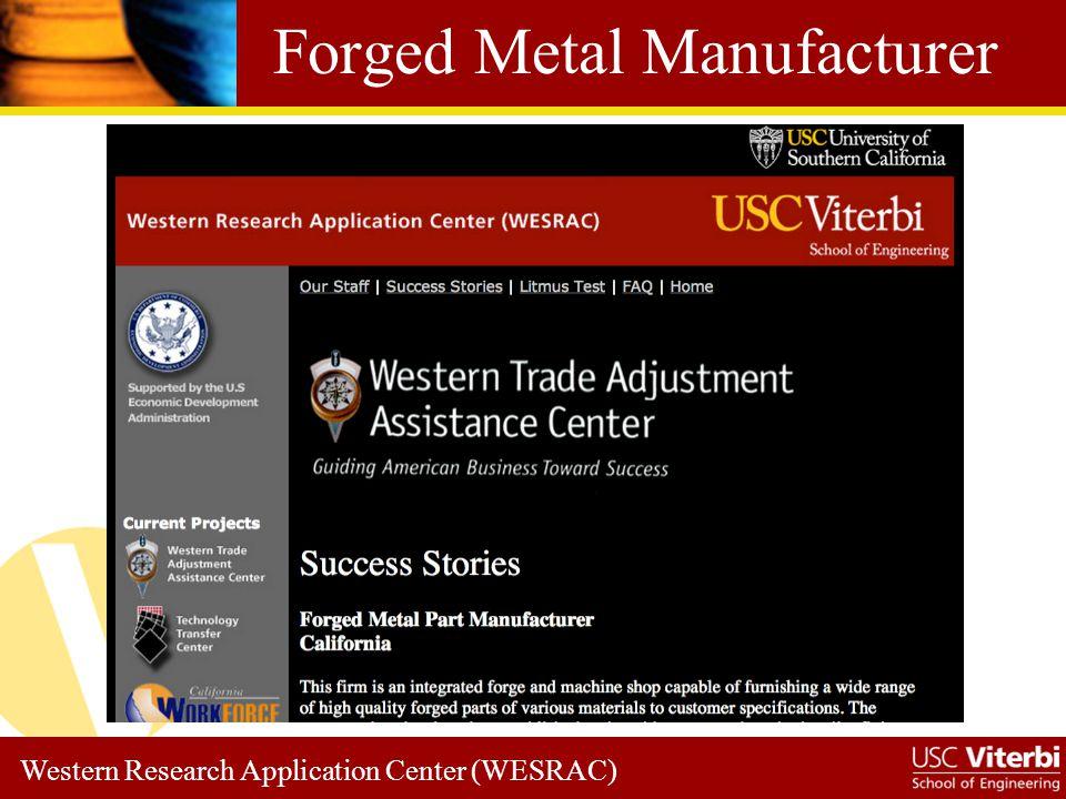 Western Research Application Center (WESRAC) Western TAAC Steps