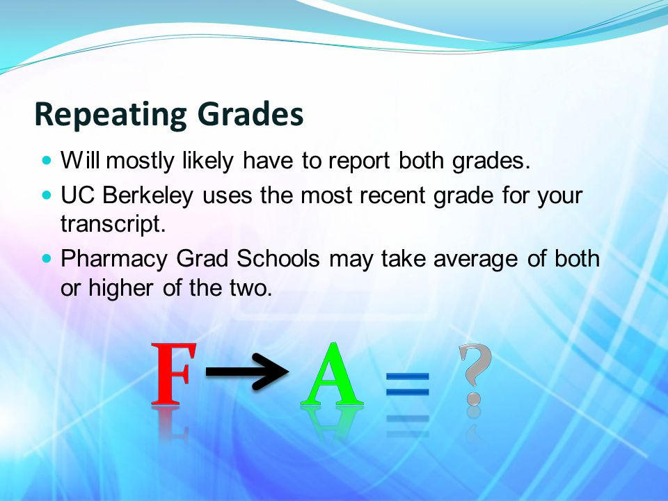Repeating Grades Will mostly likely have to report both grades.