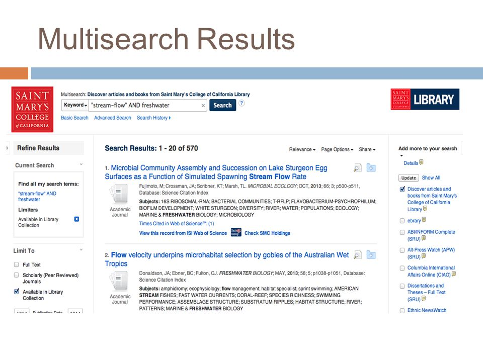 Multisearch Results