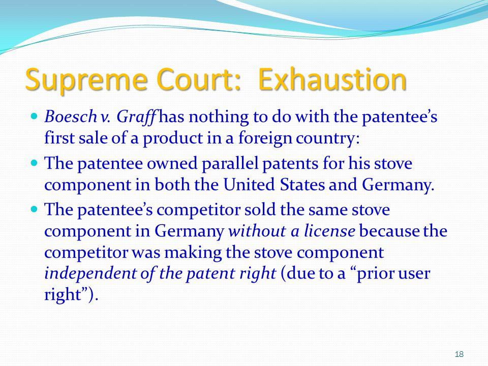 Supreme Court: Exhaustion Boesch v.