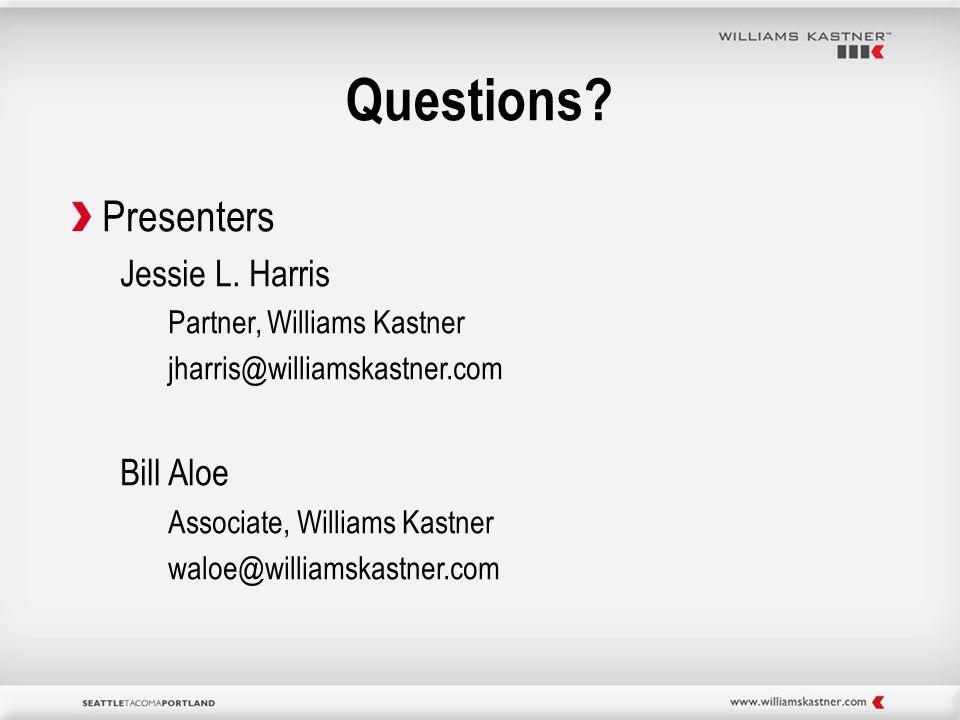 Questions. Presenters Jessie L.