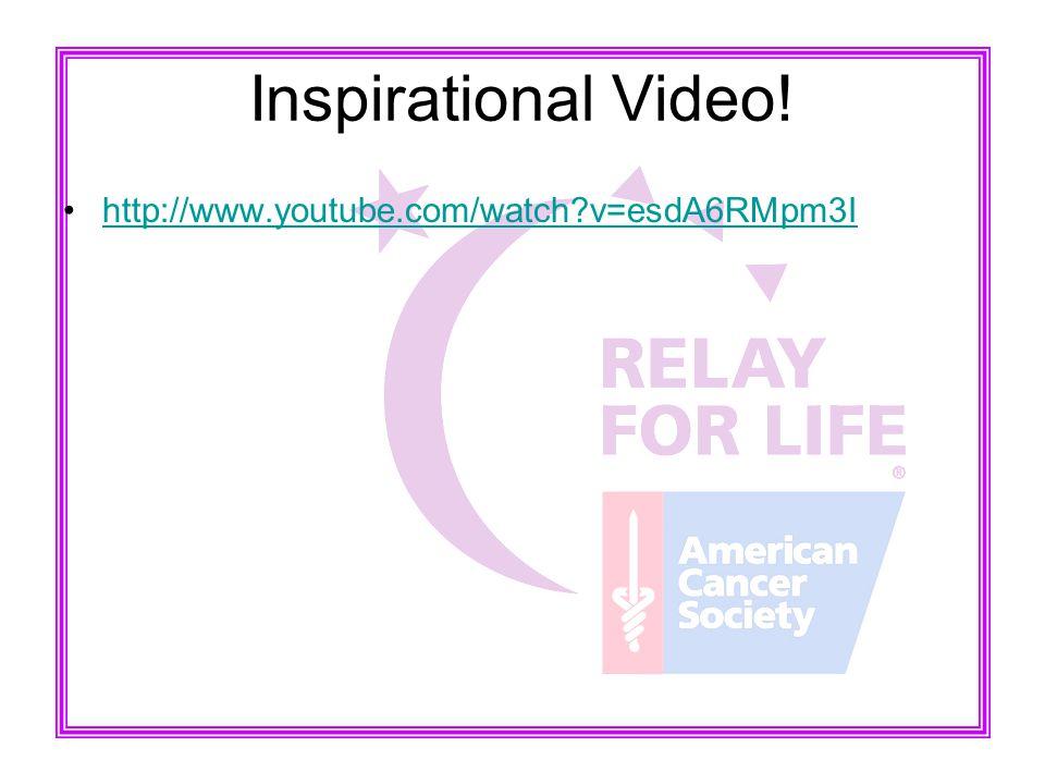 Inspirational Video! http://www.youtube.com/watch?v=esdA6RMpm3I