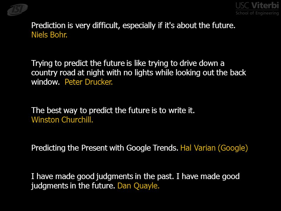 Example: Building knowledge bases -William Cohen, CMU -Google Trends