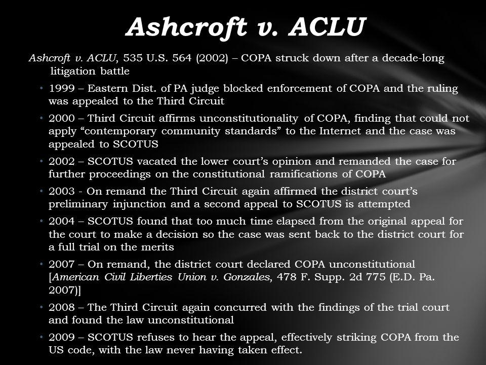 Ashcroft v. ACLU, 535 U.S.