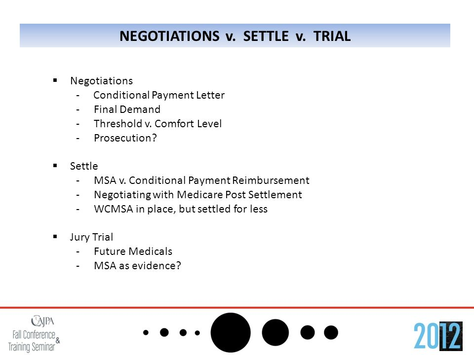 NEGOTIATIONS v. SETTLE v.