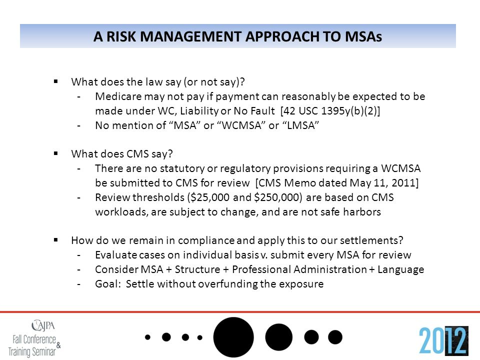 A RISK MANAGEMENT APPROACH TO MSAs  What does the law say (or not say).