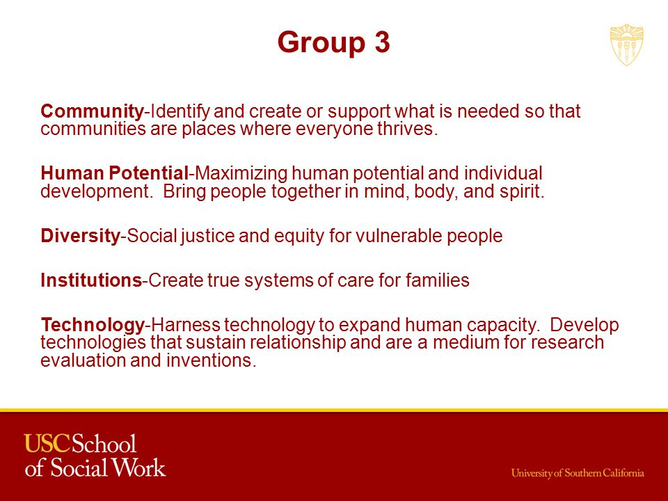 Group 3 Community-Identify and create or support what is needed so that communities are places where everyone thrives.