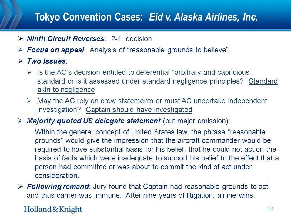 Tokyo Convention Cases: Eid v. Alaska Airlines, Inc.