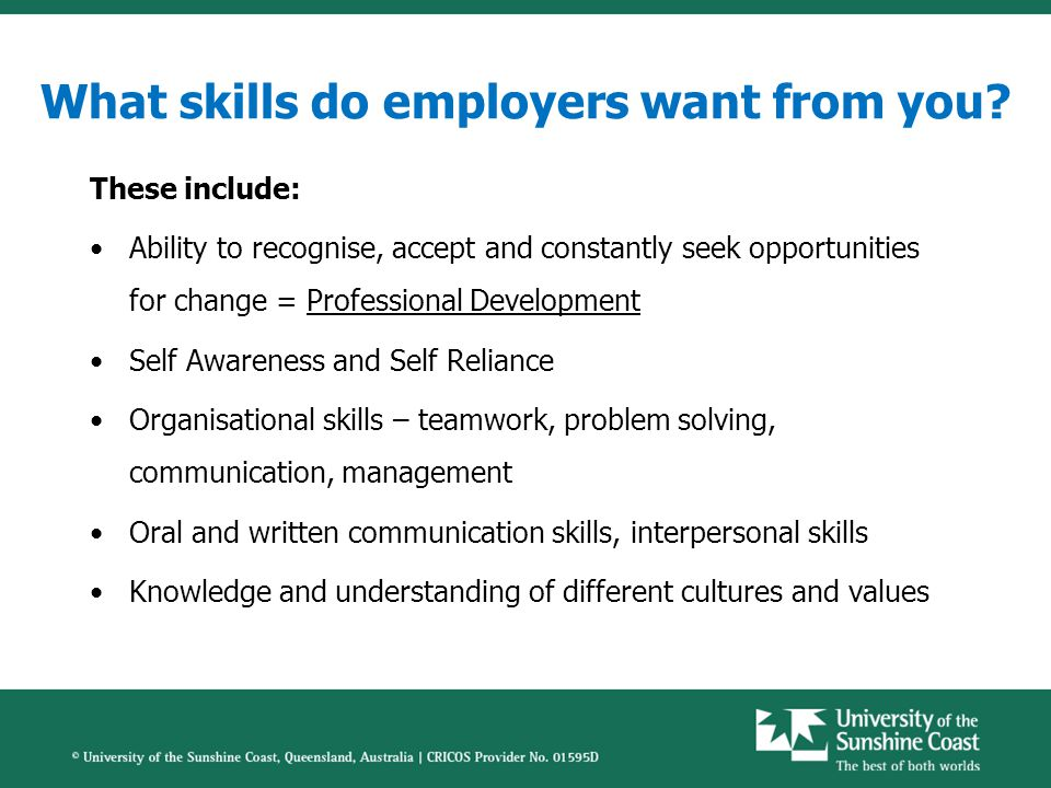 What skills do employers want from you.
