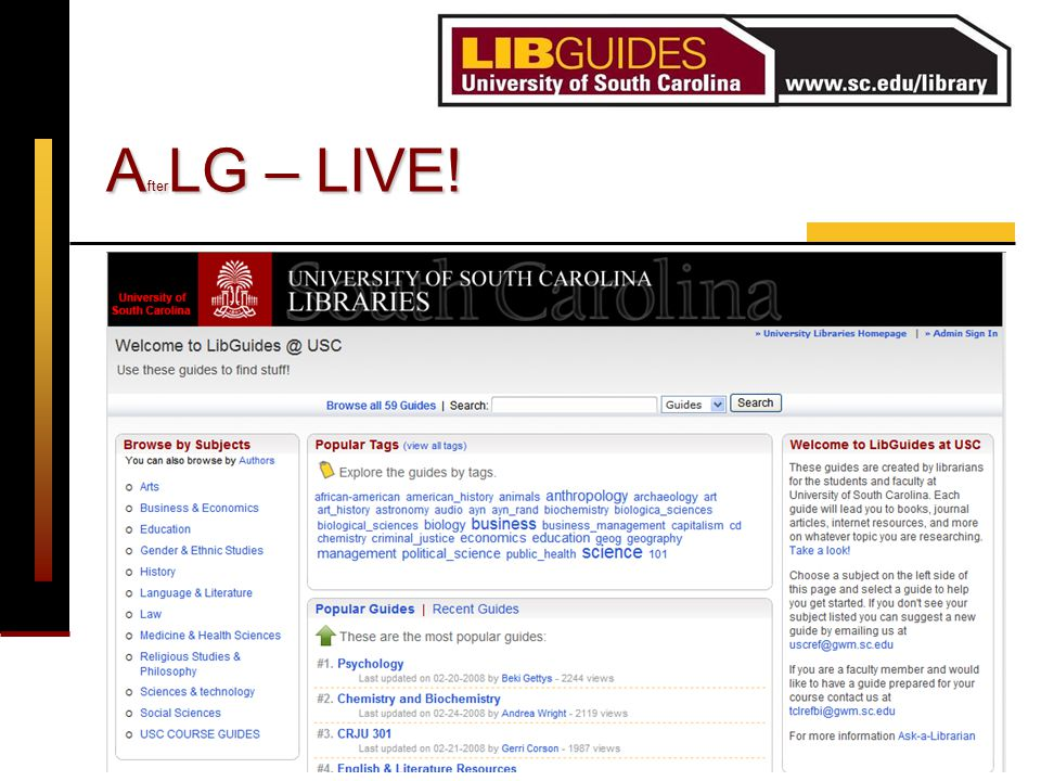 ER&L Conference 2008 R. Gettys & G. Corson A fter LG – LIVE!