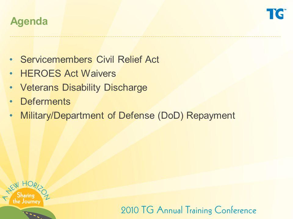 Military service deferment Important statutory/regulatory provisions –10 U.S.C.