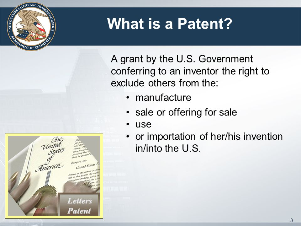 IP Awareness Assessment Tool 34 Check your Awareness of the various aspects of IP 10 Categories of IP Covered: Utility Patents Trademarks Copyrights Trade Secrets Design Patent IP Strategies & Best Practices Using Technology of Others Licensing Technology to Others International IP Rights and IP Asset Tracking http://www.uspto.gov/inventors/assessment/