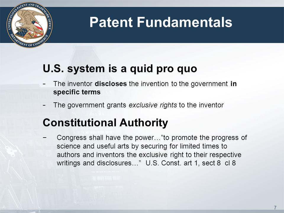 Patent Fundamentals U.S.