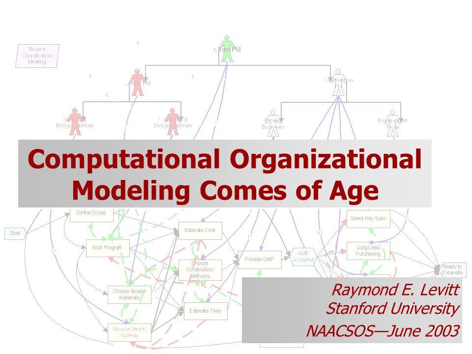 Computational Organizational Modeling Comes of Age Raymond E.